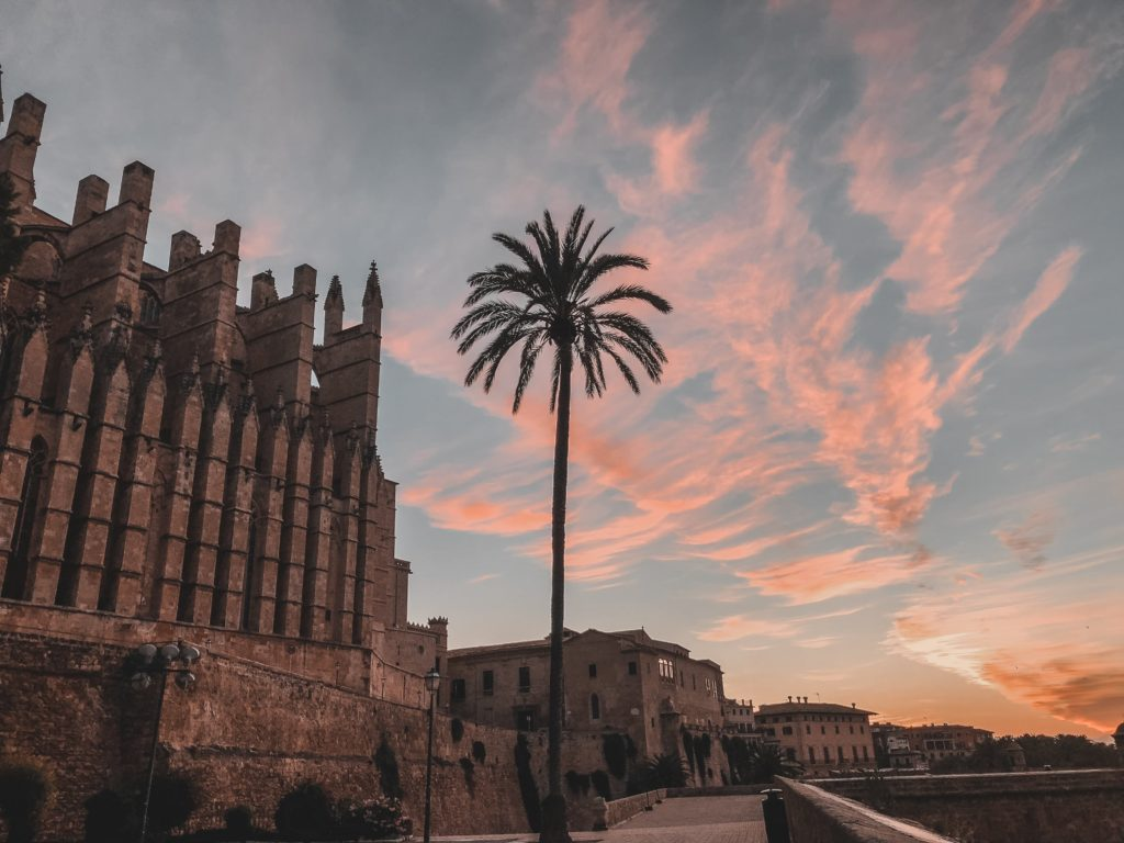 Sunrise cathedral Palma de Mallorca