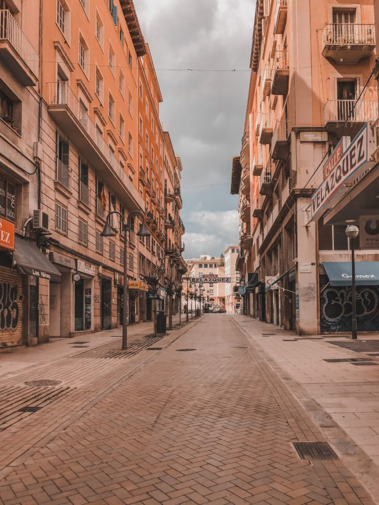 empty street during Spanish lockdown