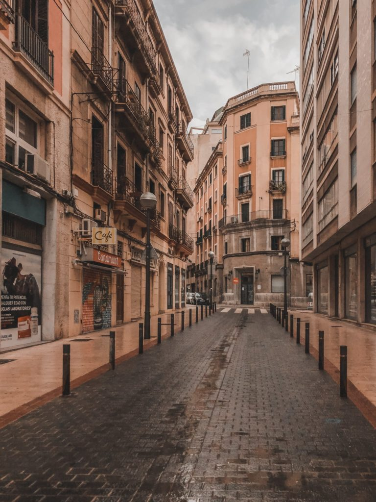 empty streets during lockdown Palma de Mallorca