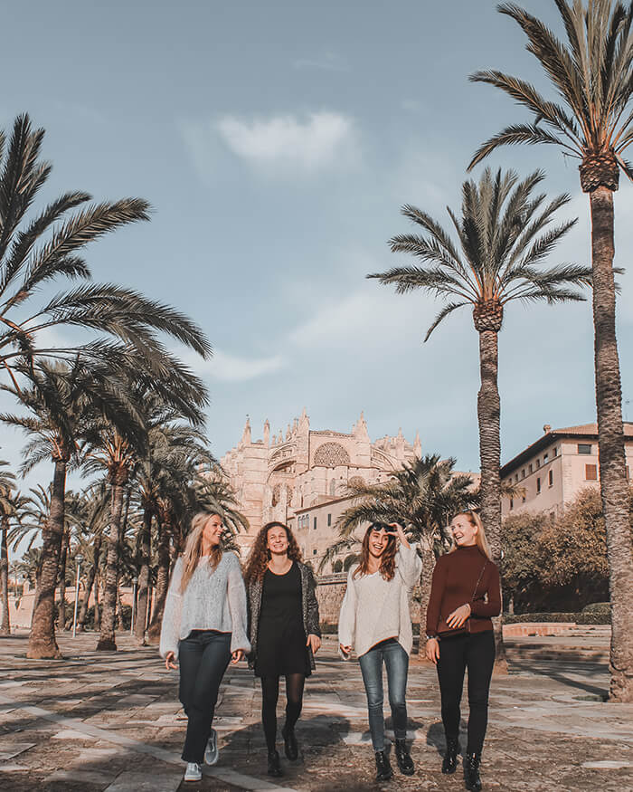 palma inta tour with a group