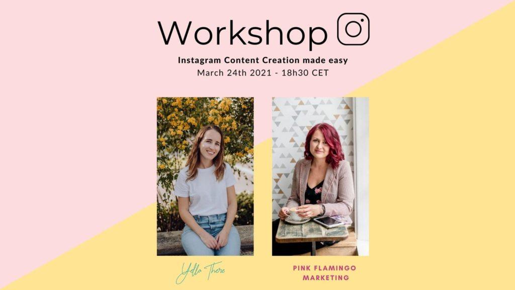 Workshop Instagram Content Creation Made Easy